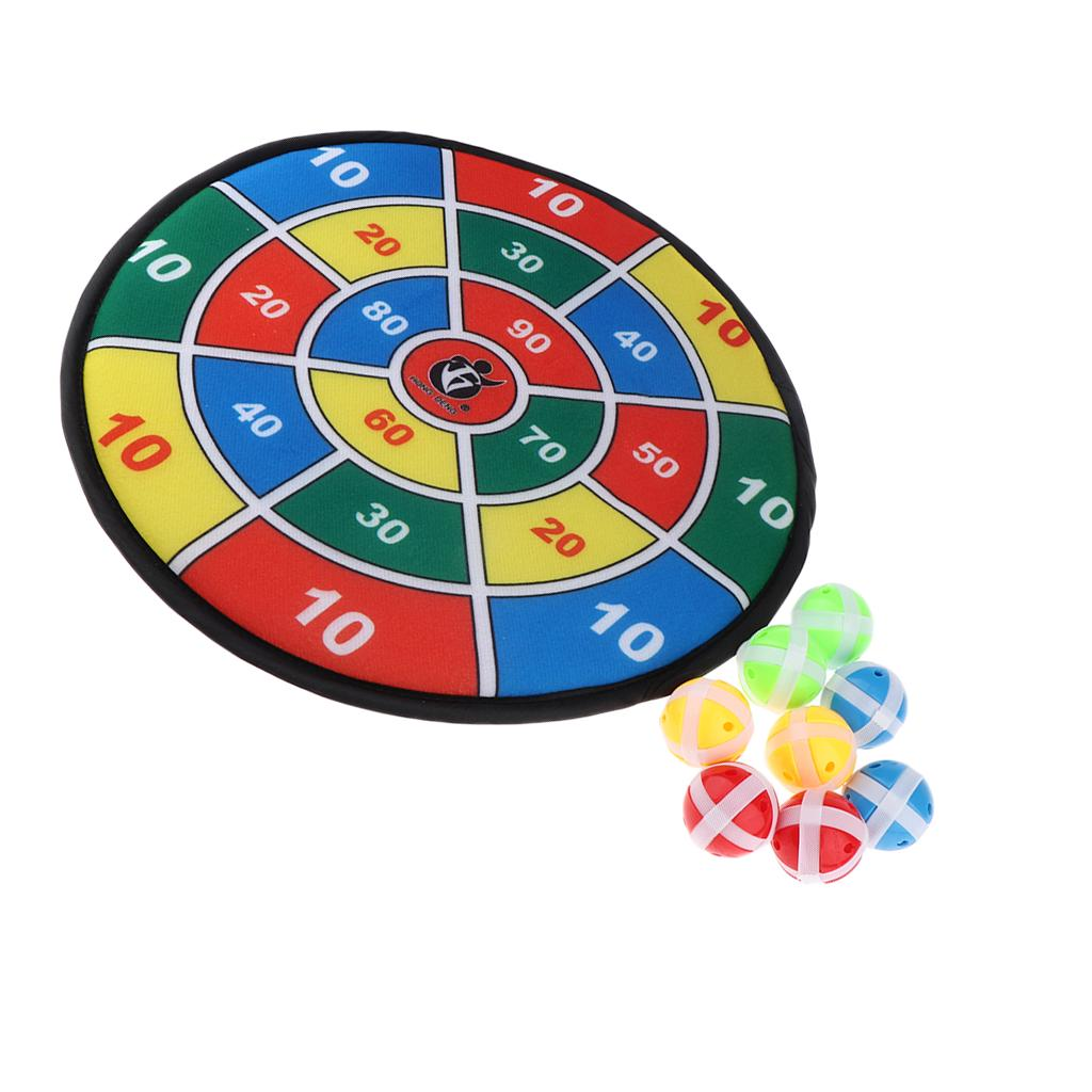 1 Set Cloth Art Toy Throwing Playing Toys Dart Board for Children Outdoor Kids