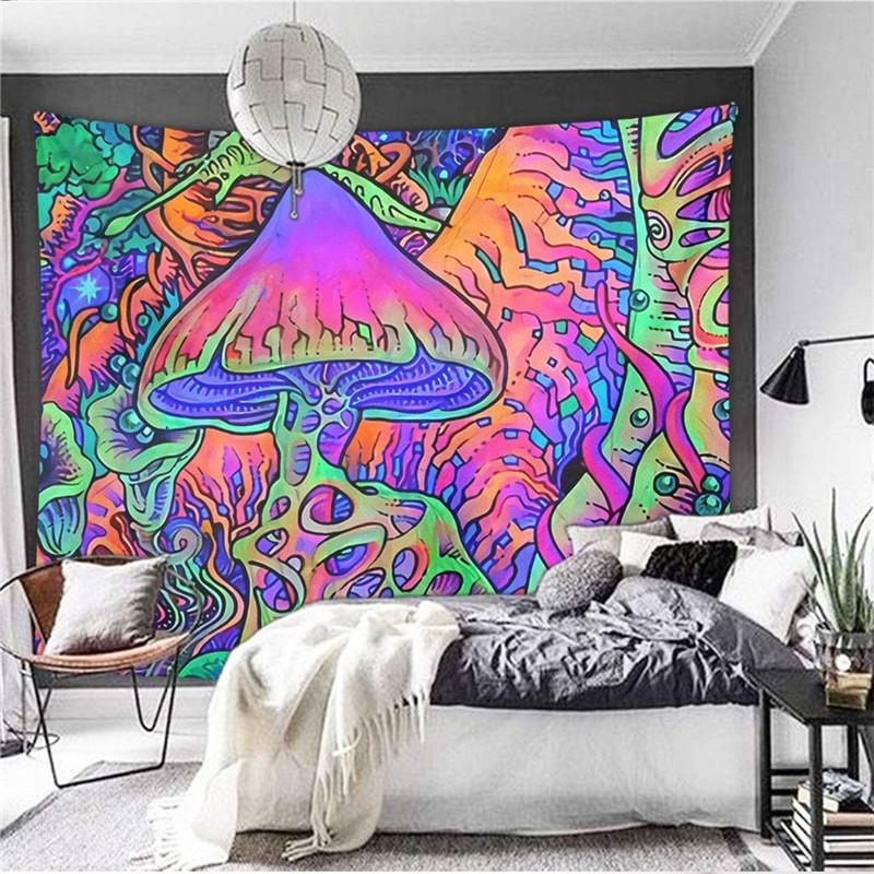 Abstract Colorful Fantasy Tirppy Tapestry Art Wall Hanging Cover Poster