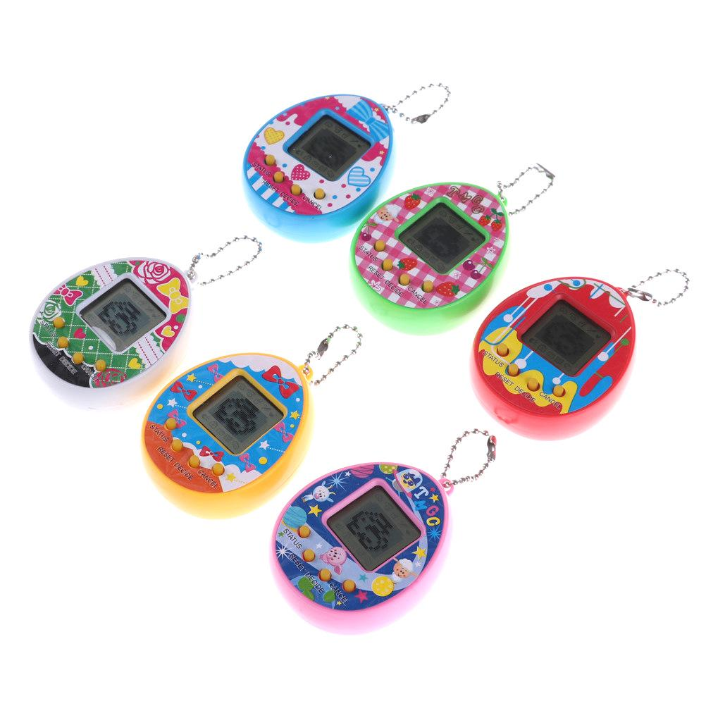RipengPI Handheld Game Console LCD Virtual Digital Pet Egg Handheld Electronic Game Machine Toy With Keychain NA
