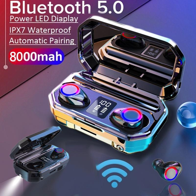 i12Bluetooth-Kopfh/örer 5.0 Wei/ß kabellose Touch-Kopfh/örer HiFi-Kopfh/örer In-Ear-Kopfh/örer Rauschunterdr/ückungskopfh/örer,Tragbare Sport-Bluetooth-Funkkopfh/örer,F/ür Apple Android//iPhone//AirPods Pro