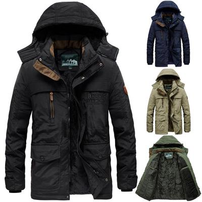 Mens Autumn Winter Casual Pocket Hoodies Trench Long Sleeve Outwear Coat Tops Wild Tight for Men