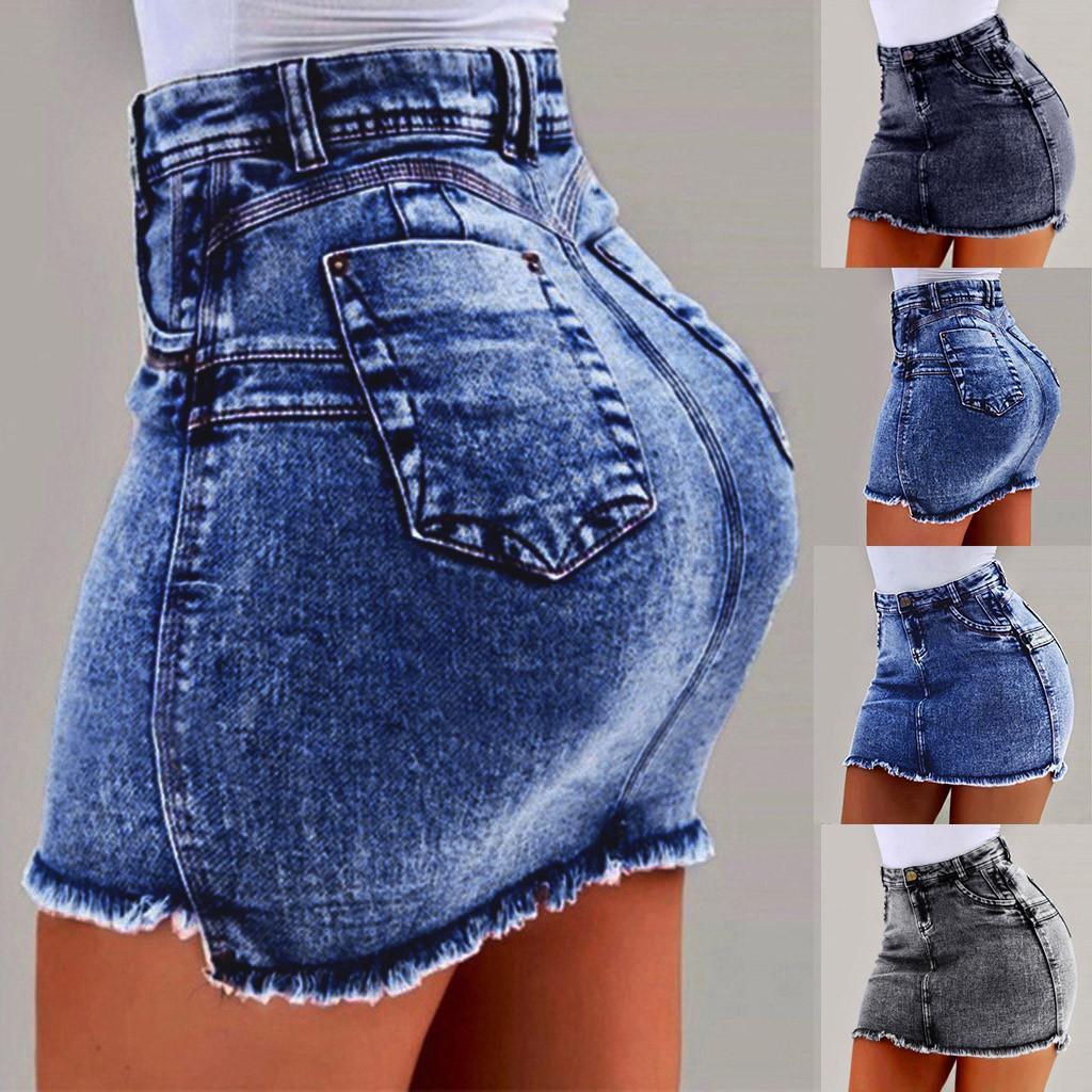 Jean Zipper Skirt Ripped Skirt Denim Skirt Clothing for women Denim Zipper Skirt Mini jean Skirt Jean Ripped Skirt Mini Zipper Skirt