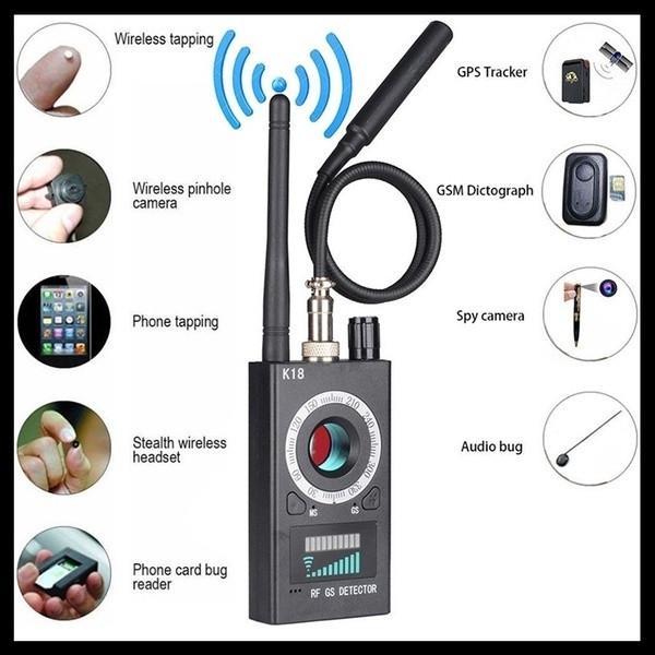 1Set RF Signal Detector Bug Anti-spy Eavesdropping Detector Camera GSM  Audio Bug Finder GPS Scan