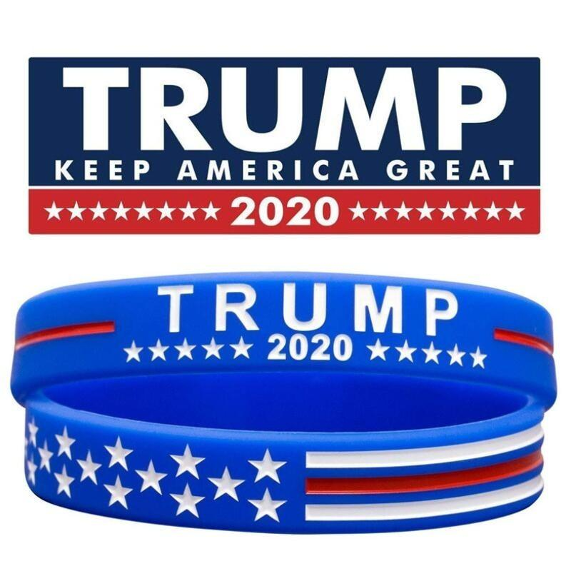 2x Donald Trump 2020 KEEP AMERICA GREAT Silicone Bracelet Wristband PACK OF 2