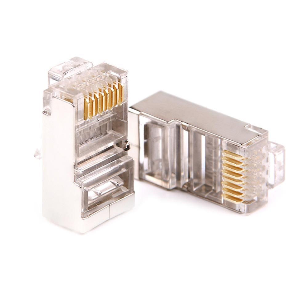 20Pcs  RJ45 8P8C  End Modular Crystal Network Cable Head Cat5 Plug for Laptop PC