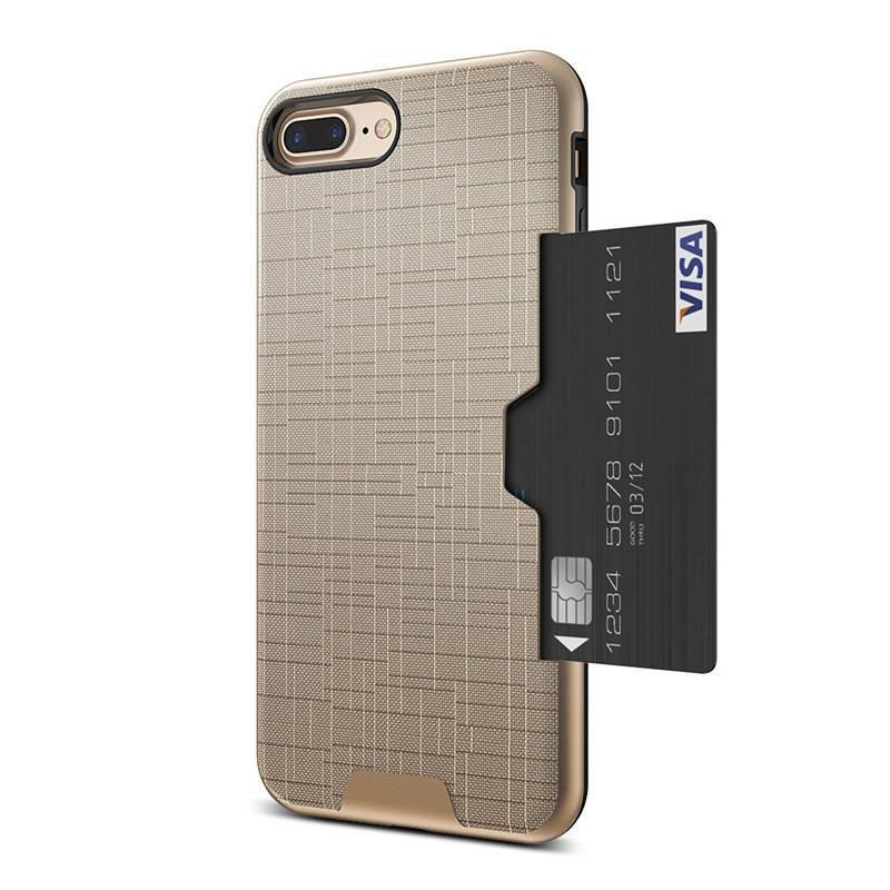 e64a325c6ca Para iPhone7 7 Plus armadura híbrido cepillado Inserte tarjeta ...