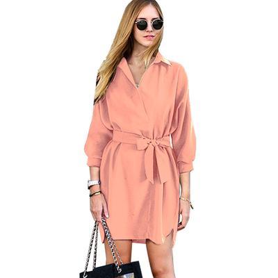 098e859430a938d Женщины мода длинный рукав мягкой хлопчатобумажной Flowy платье талии лук  платье Ol случайные элегантные дамы