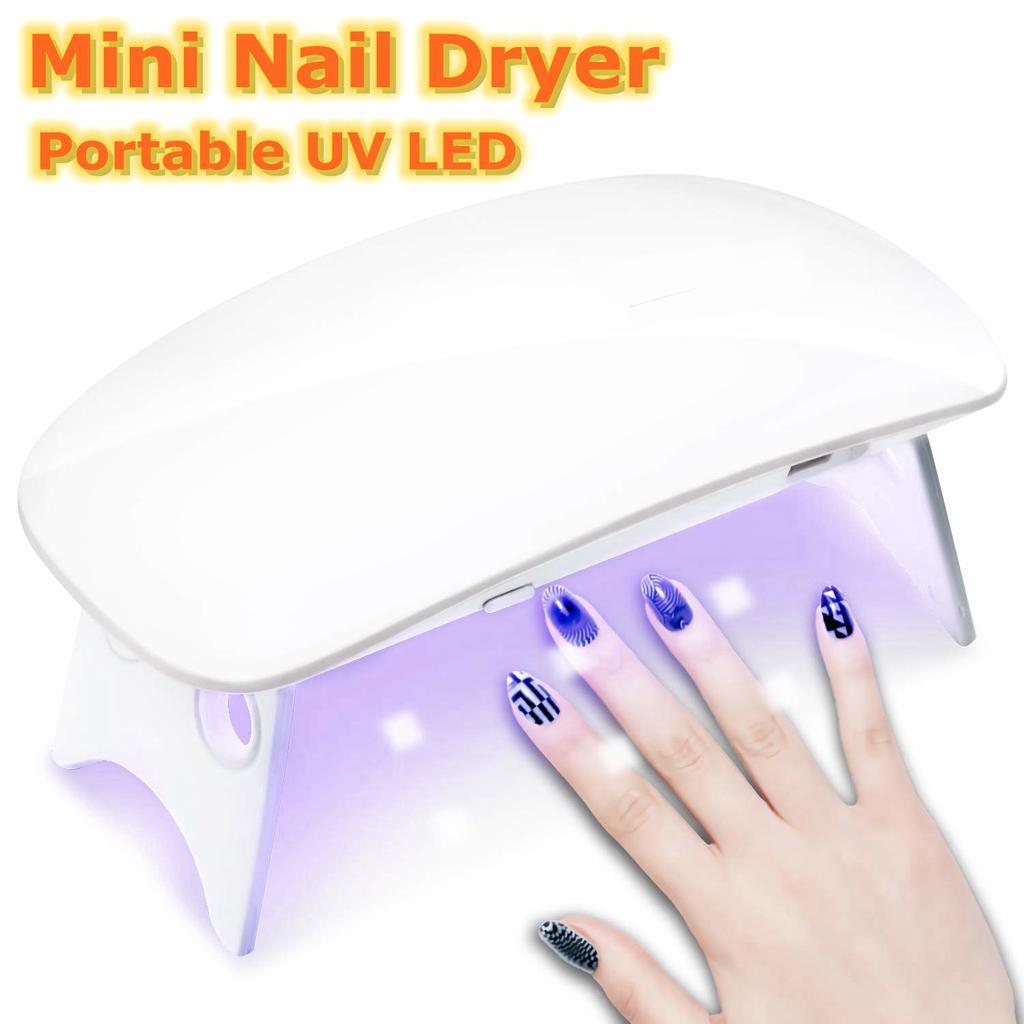SUN Mini Nail Dryer UV Gel Polish Curing LED Lamp Portable