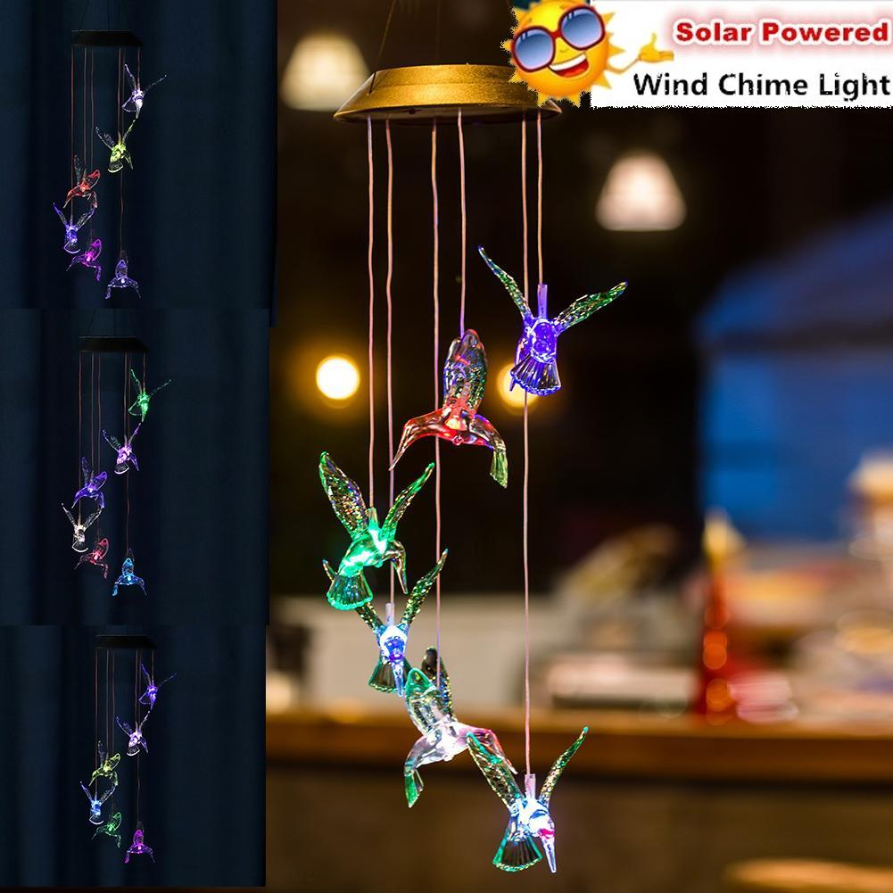 Led Solar Wind Chime Color Change Wind Chimes Outdoor Waterproof Hanging Crystal Ball Spiral String Light Decorative Wind Bells Light Buy From 85 On Joom E Commerce Platform