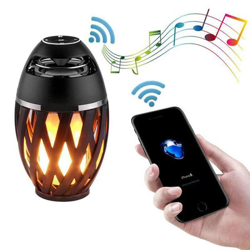 Bluetooth Speaker Usb Flame Lights, Led Flame Lamp Bluetooth Speaker