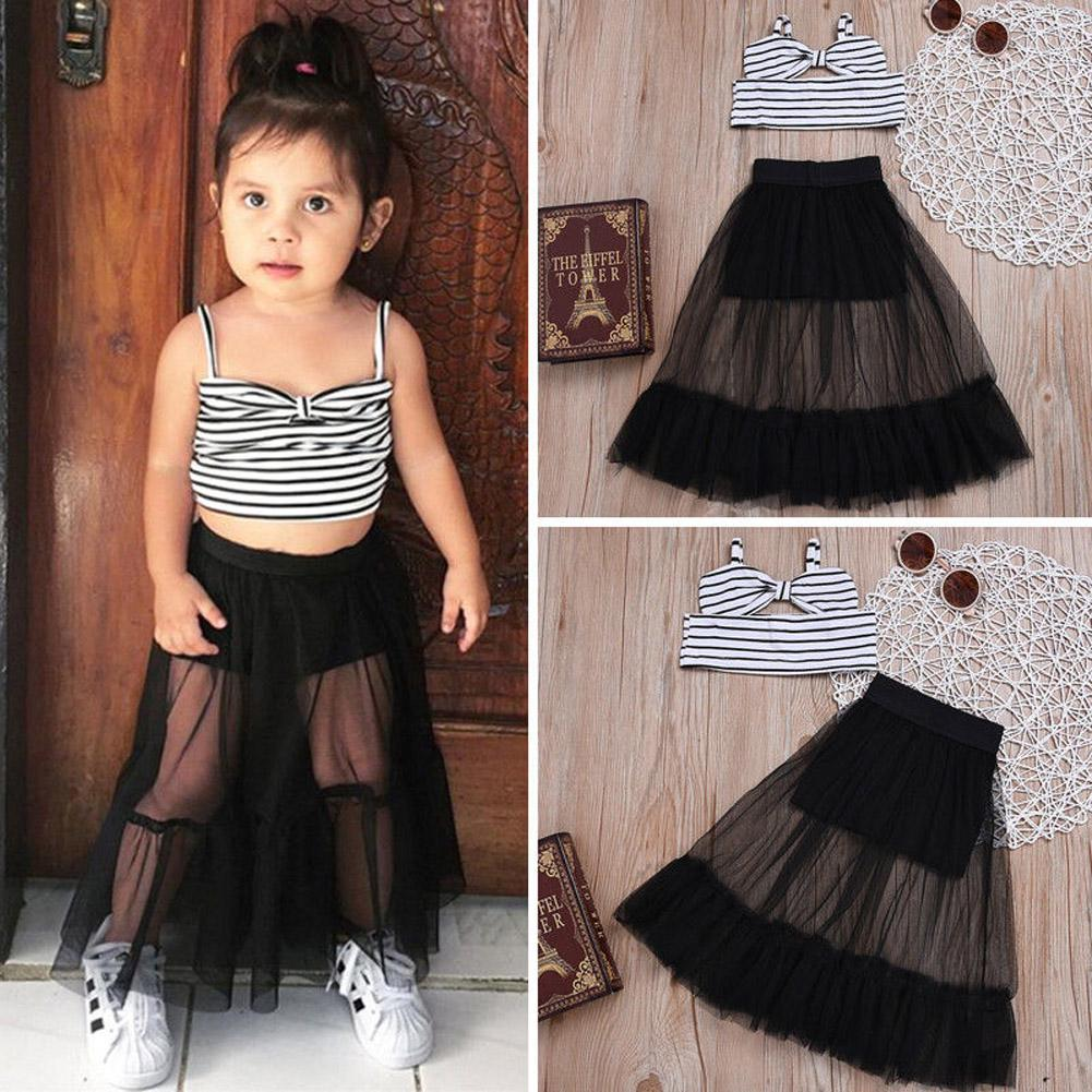Leopard Print Stylish Skirt Summer Outfits Toddler Baby Girl Letters Print Short Sleeve Clothes Shirt Tops