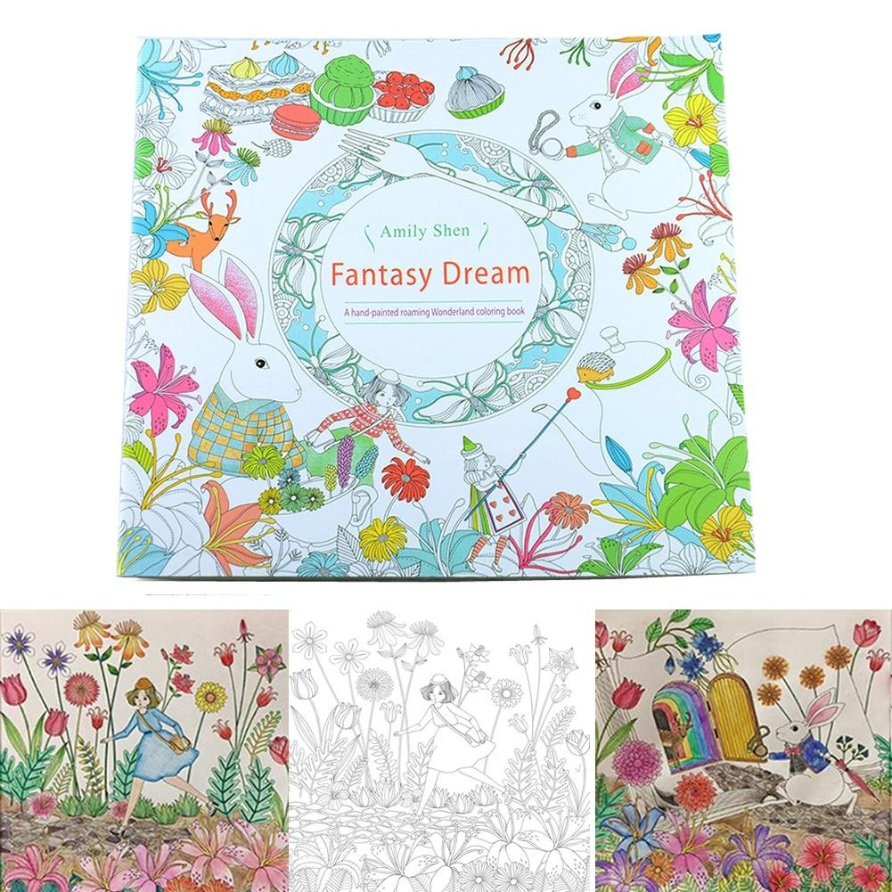 New Alice In Wonderland Fantasy Dream Coloring Book By Amily Shen