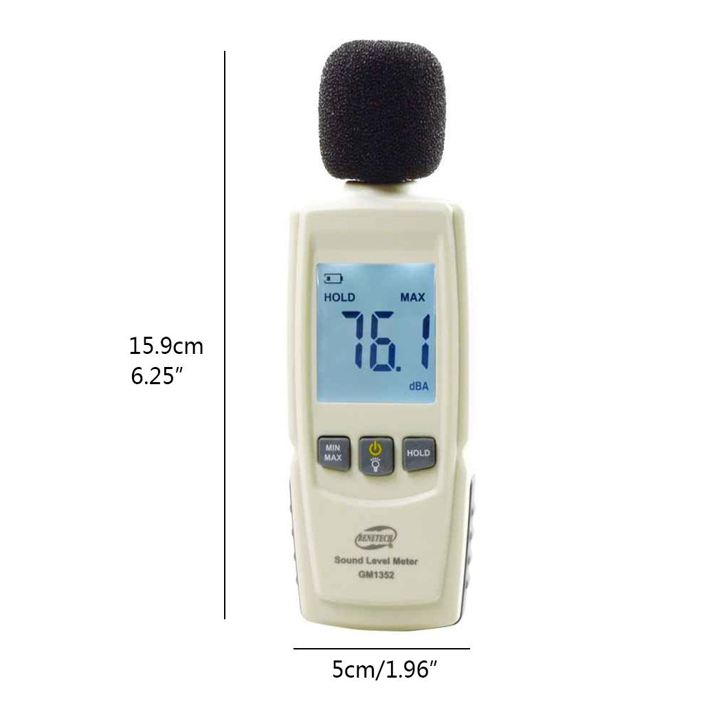 Mini Digital Sound Level Meter Noise Measuring Instrument Decibel Monitoring Tester with Noise Reader Range 30-130dBA,LCD Backlight Display Precise