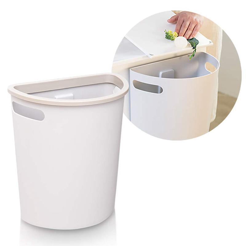 Nice Small Trash Can Hanging Waste Bin, Trash Can For Kitchen Cabinet Door Wastebasket