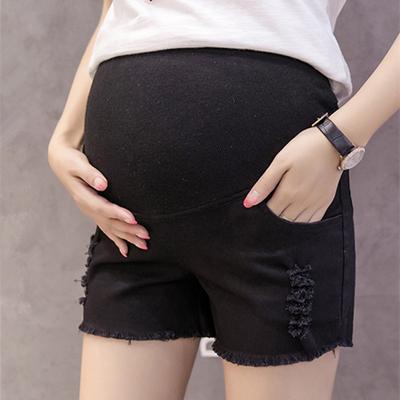 bdfca5588 Moda maternidad Shorts elegantes embarazadas pantalones elásticos de la  cintura verano vaqueros