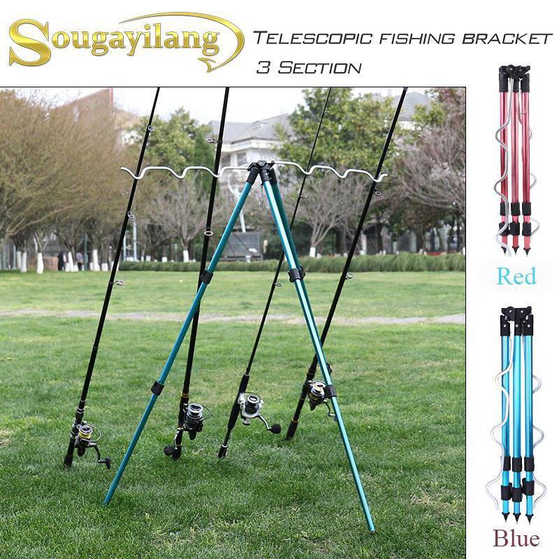 Portable Folding Fishing Rods Holder Rack Tripod Fishing Rod Tripod Stand