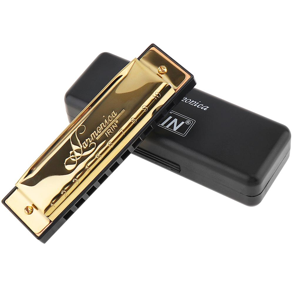 New Octave-tone Harmonica 24 Holes Key C Diatonic Scale Red Mouth Organ with Case Gift