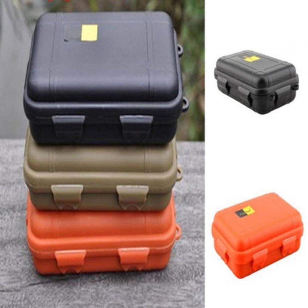 Outdoor Waterproof Shockproof Plastic Survival Container Storage EDC Tool R2S3