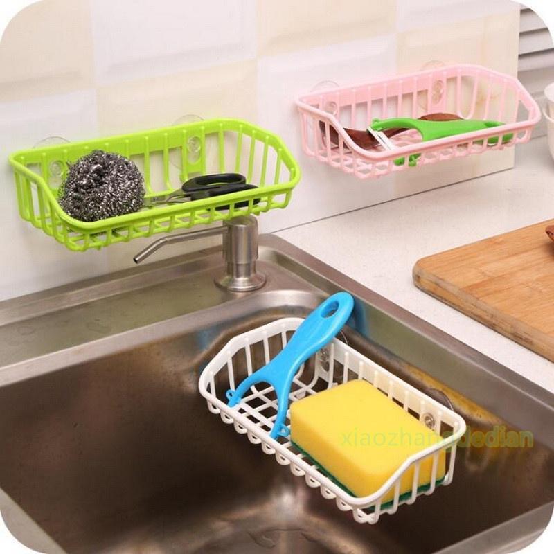 Mini Sponge Holder Towel Rack Sponge Tool Towel Hooks Random Color Suction Cup