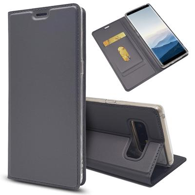Luxury Leather Case Slim Book Design Magnetic Flip Stand Protective Cover With Card Slot For