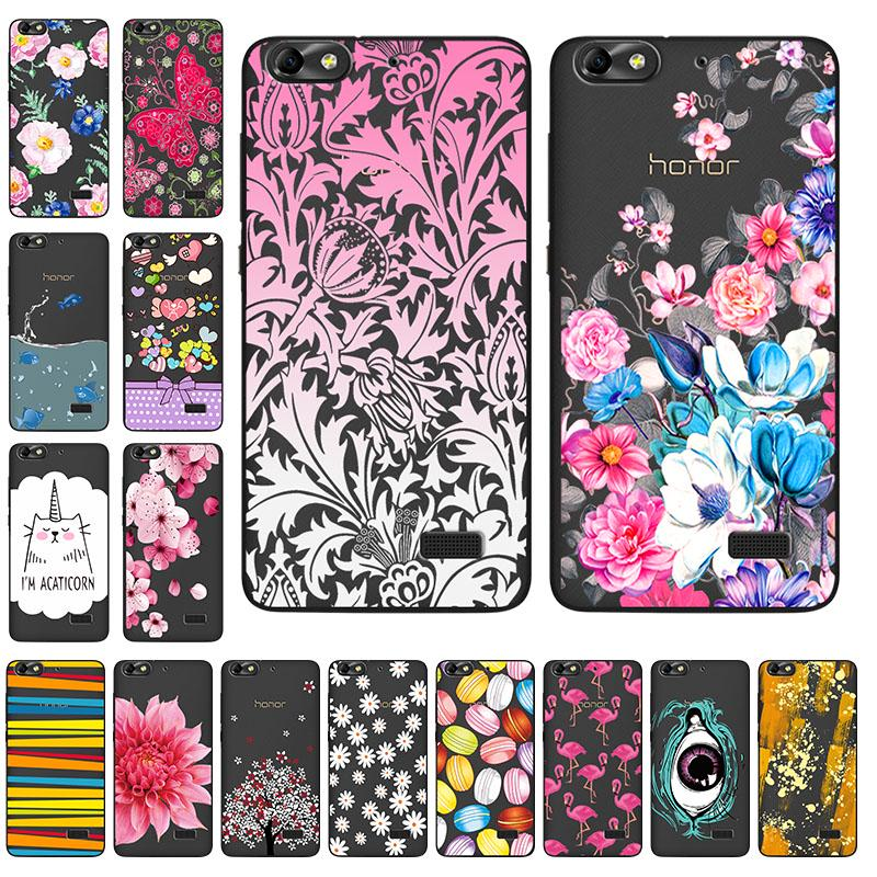 Hollow Silicone Cases for Huawei Honor 4C C8818 CHC-U01 CHM-U01 G Play Mini CHM-CL00 5.0 Inch Covers