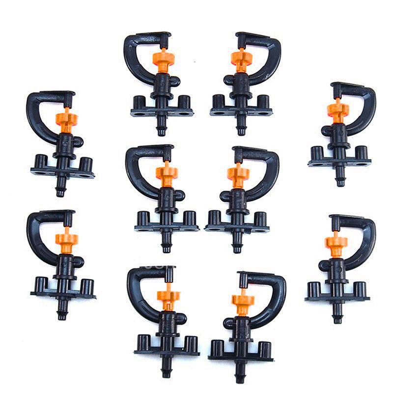 Professional Sale 360 Degree Garden And Irrigation Micro Adjustable Sprinkler Heads With 10 X Shelf 10pcs Home