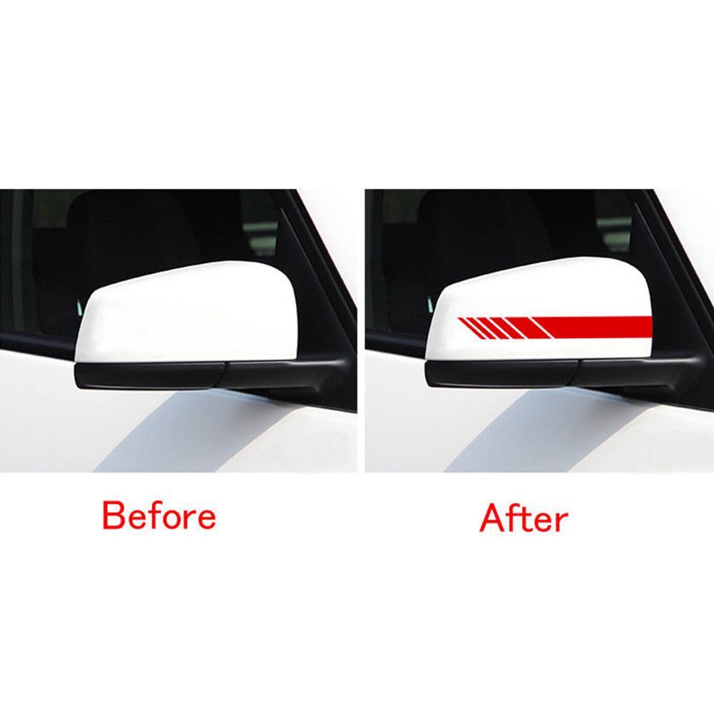 Car Rearview Mirror Carbon Fiber 5D Sticker Vinyl Stripe Decal 2pcs Accessories