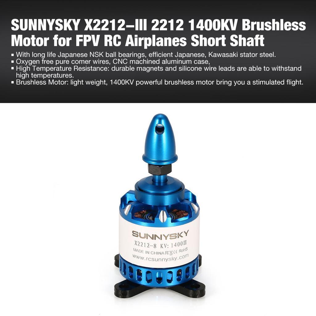 TFN SUNNYSKY X2212-III 2212 1400KV Brushless Motor for RC Airplane Short  Shaft