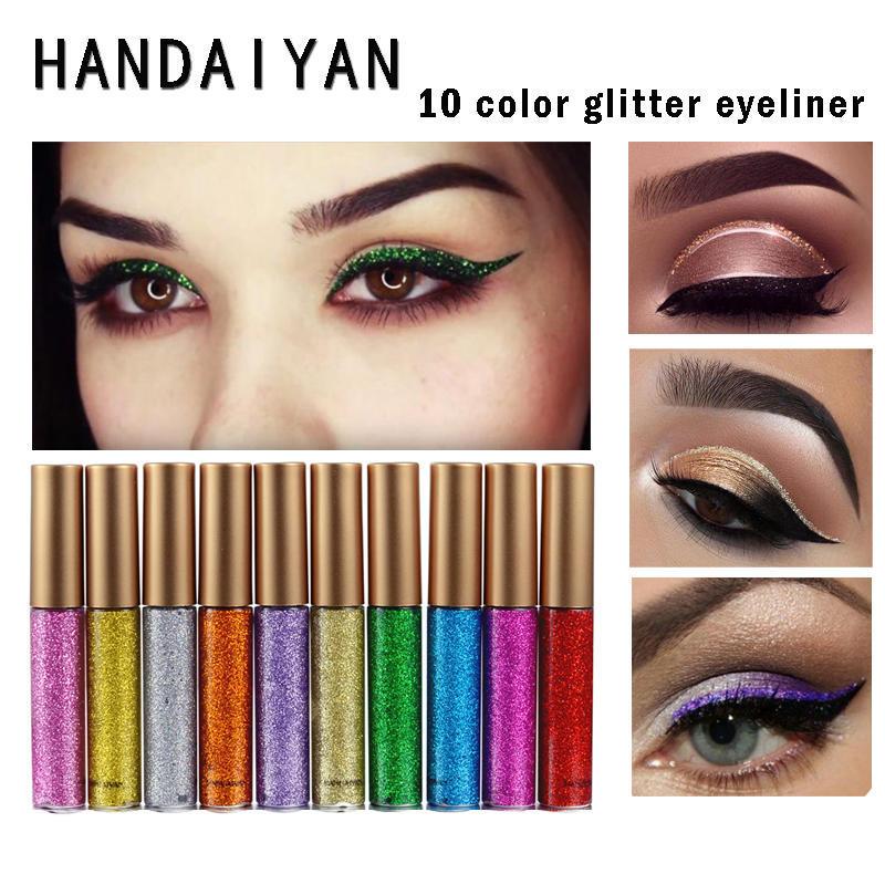 2 In 1 Eye Makeup Kit Waterproof Long Lasting Shimmer Shine Eye Shadow Sticker Eyes Glitter Eyeshadow Cosmetics Beauty Makeup 100% Original Eye Shadow Beauty Essentials