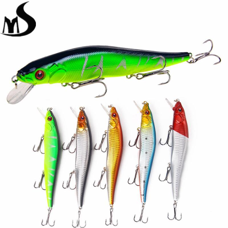 1pc 14cm//23g minnow fishing lures plastic baits hard lures fishing hooks 4#  X