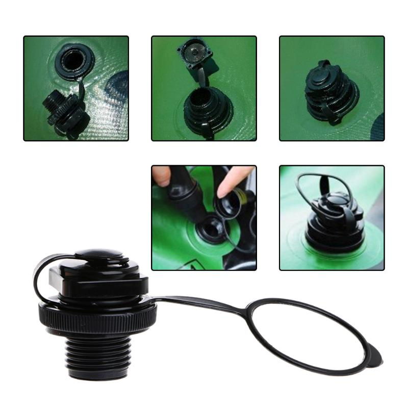 Air Valve Caps Screw For Inflatable Boat Fishing Boats Raft Airbed Outdoor Black