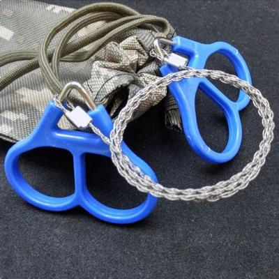 2X Wire Saw Camping Stainless Steel Emergency Pocket Chain Saw Survival Gear