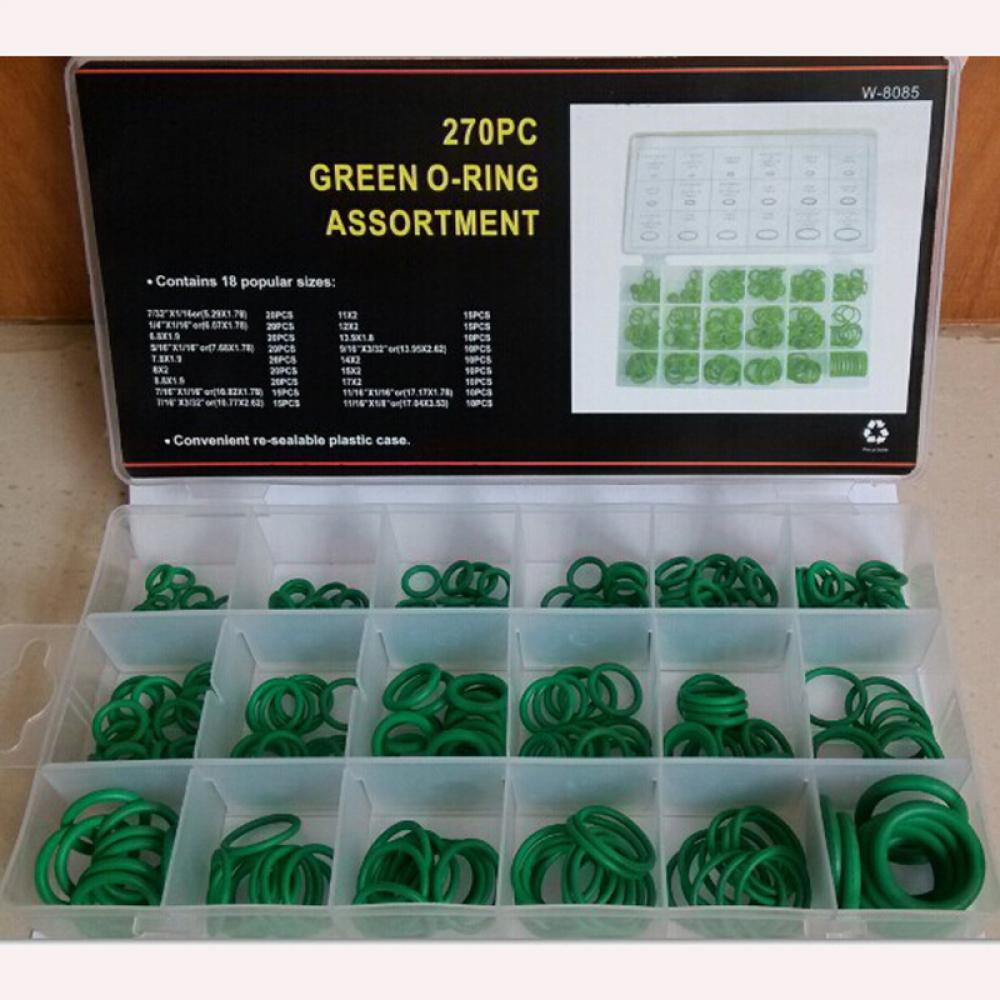 270PCS Rubber O Ring Metric Nitrile Washer Seals Pumps Assortment Kit 18 Sizes