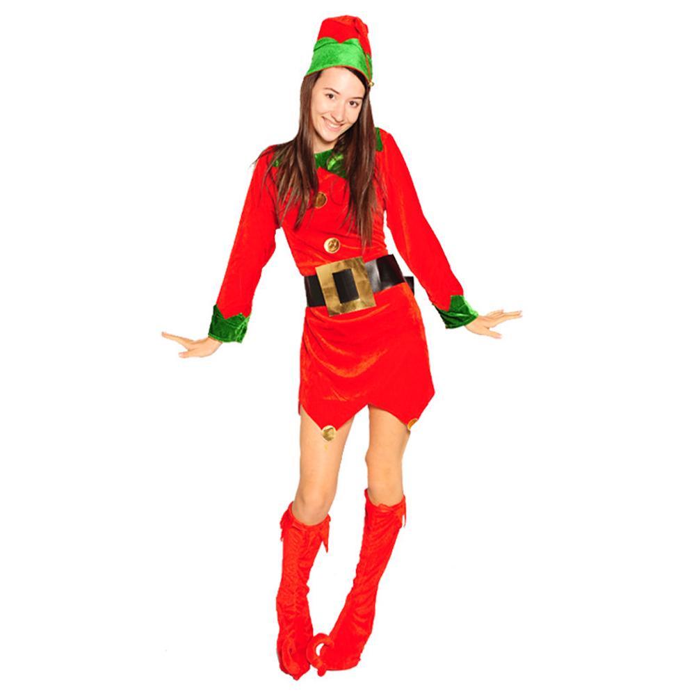 8-10   12-14  14-16 FANCY DRESS  4 Piece  ELF Costume DRESS UP HEN PARTY