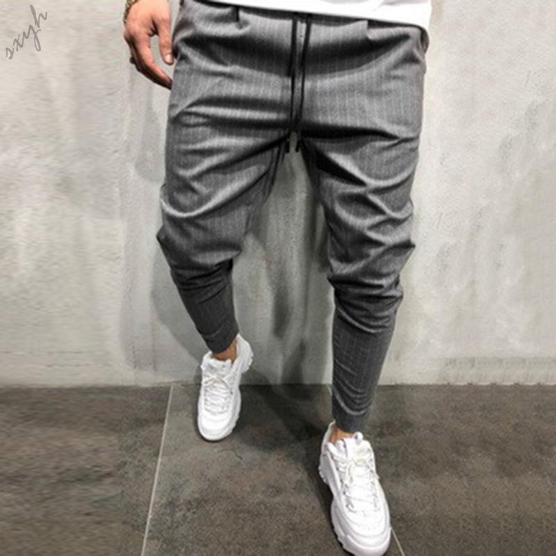 Realdo Mens Casual Slim Personality Solid Elastic Splice Work Cargo Trousers Jeans