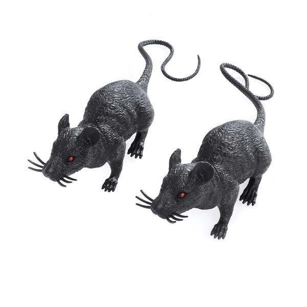 Christmas & Winter 10pcs Simulation Mouse Halloween Vivid Creepy Rat Funny Tricky Toy Party Decor