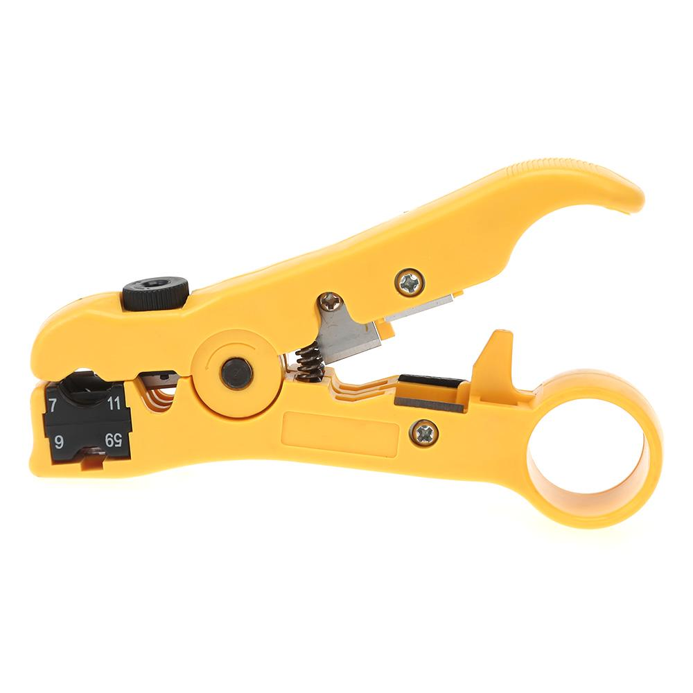 Cable Stripper For RG59 Coaxial Wire Coax Stripping Tool Universal Network Wire