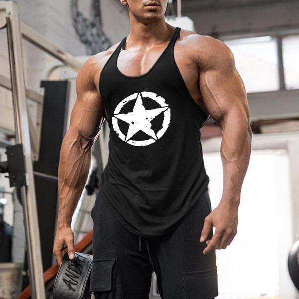 Mens Sport Vest Muscle Sleeveless Bodybuilding Hoodie Sweatshirt Tops Gym UK