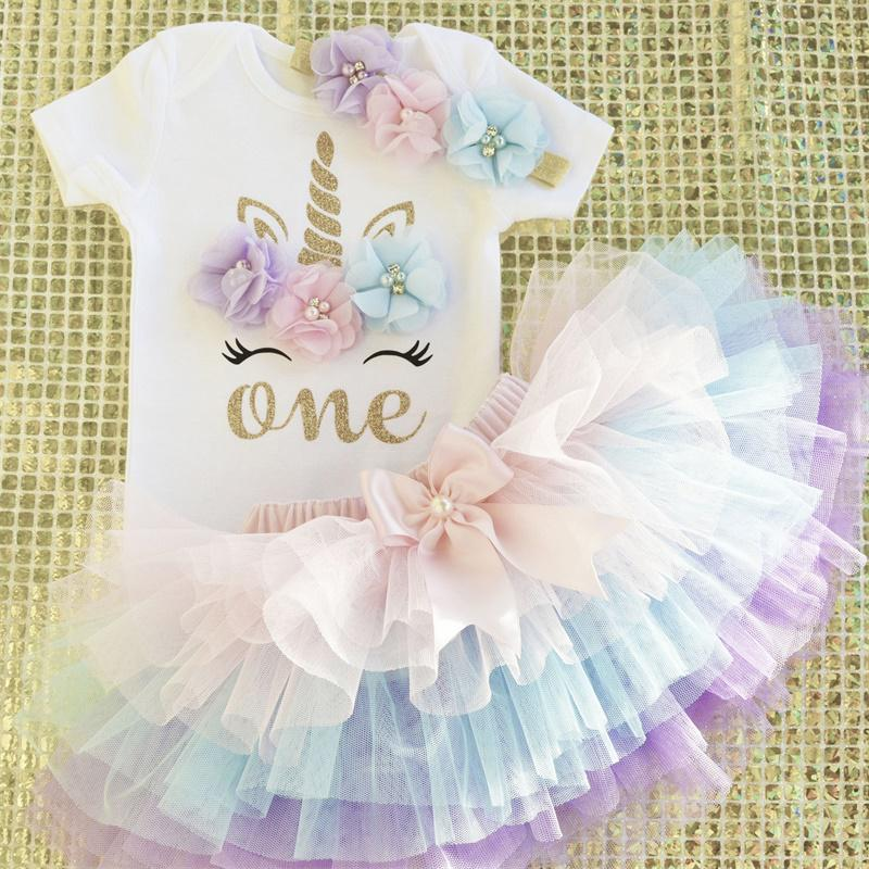 It/'s My Birthday Tutu Tulle Dress Up Princess Unicorn T-shirt Skirt Party Outfit
