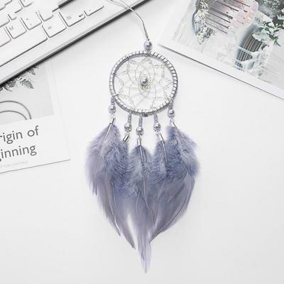 Creative Handmade Dreamcatcher Car Home Accessories Lucky Feather Hang Decorations Pink White Gray