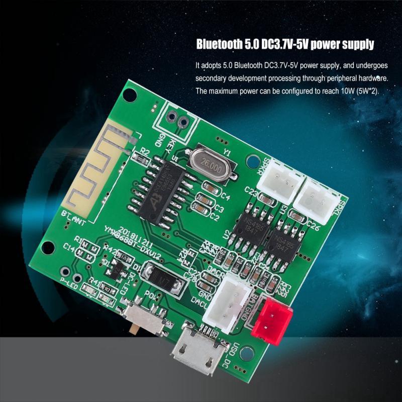 Bluetooth 4.1 Receptor de Audio Placa Módulo 5W+5W Amplificador Estéreo Manos Libres Llamada