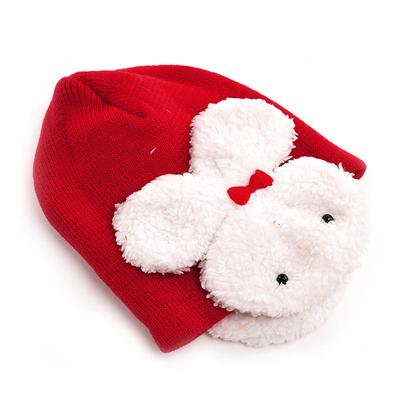 1 X Baby Kaninchen Hüte Kleinkind Kinder Winter Ear Flap Warme Mütze