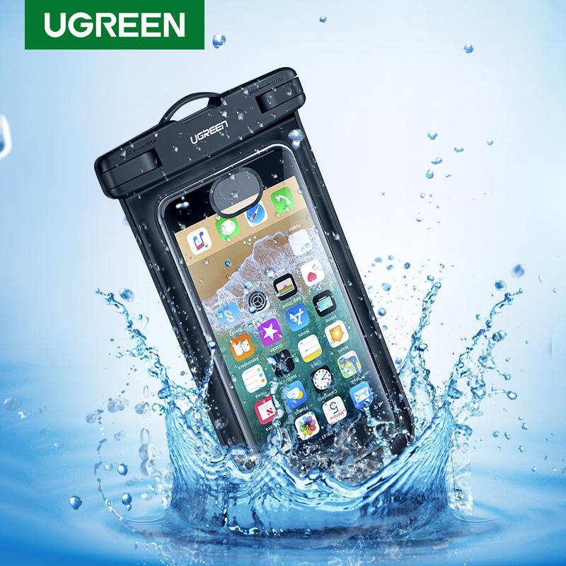 Ugreen Телефон Дело Мешок водонепроницаемый телефон Мешок 6.5'Телефон Мешок Дело для iPhone XR Xs Макс X 8 6S Samsung Галактика S9 Телефон Дело
