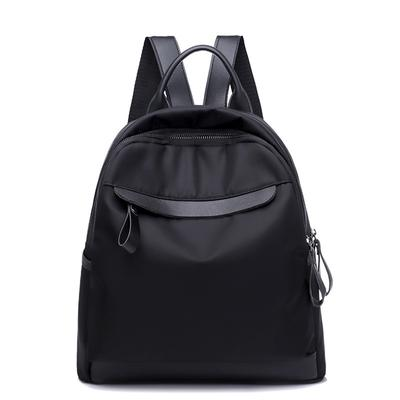 Female Simple Backpack Fashion Oxford Cloth Travel Bag Student Solid Color School Bag Girls Book Pack