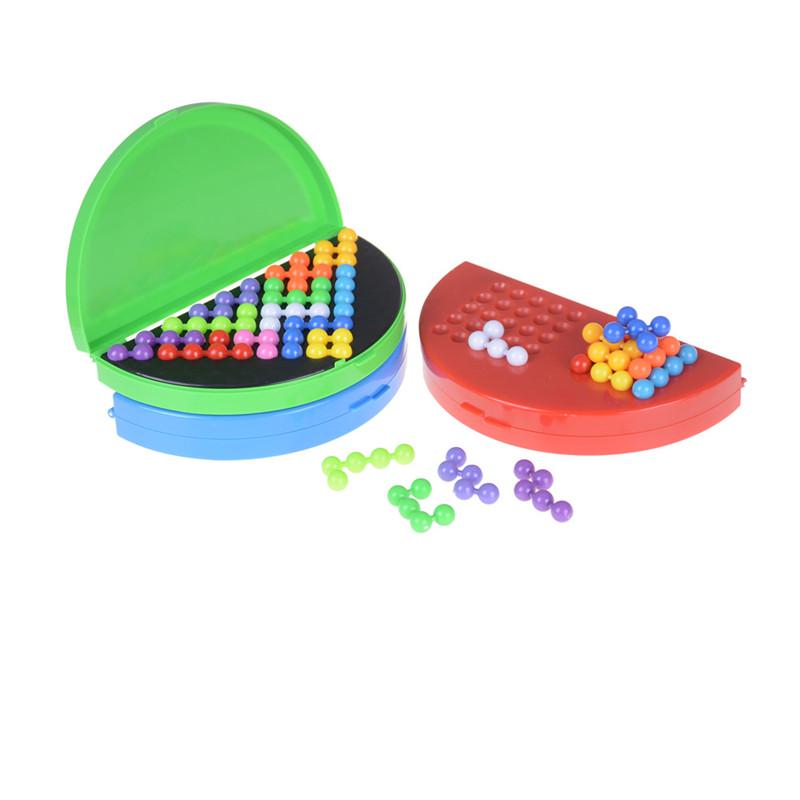 Classic Beads Puzzle Pyramid Plate IQ Mind Game Brain Teaser Educational Toys