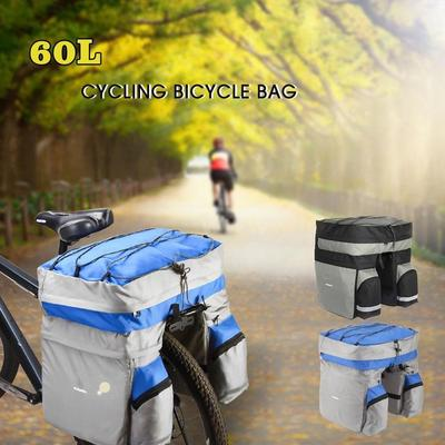 Roswheel 60L Cycling Bicycle Bag Bike Double Side Rear Rack Tail