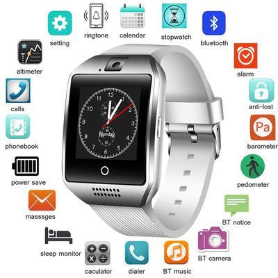 04fd2b5fb24 BANGWEI Smartwatch Bluetooth Smart Reloj Watch Relogio 2G GSM SIM App Sync  Mp3 for Xiaomi Android