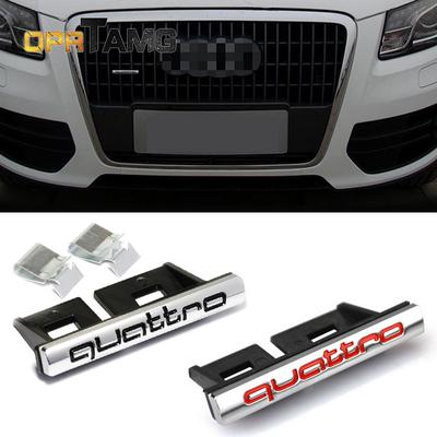 Car styling decoration 3D Metal Quattro Front Hood Grille Emblem