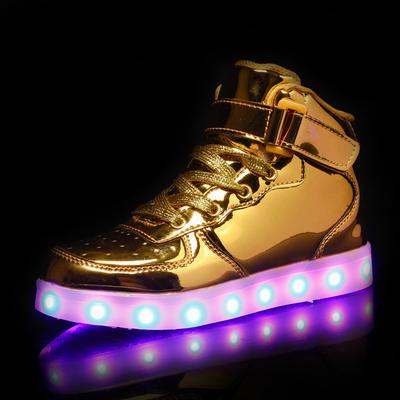 Fashion Boys Girls Led Shoes Summer Breathable Luminous Shoes Leisure Kids Glowing Sneakers