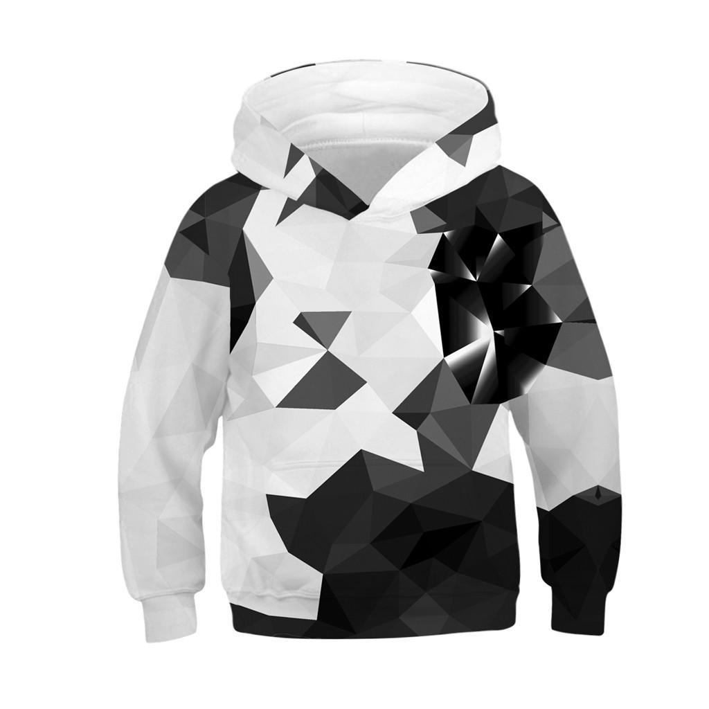 Batetel Teen Hoodie Youth Pocket Outwear Sweatshirt for Kids 3D Printed Casual Sports Hoodie for Teens